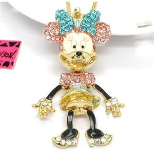 Betsey Johnson Minnie Mouse Necklace